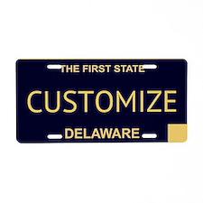 Delaware Custom Aluminum License Plate