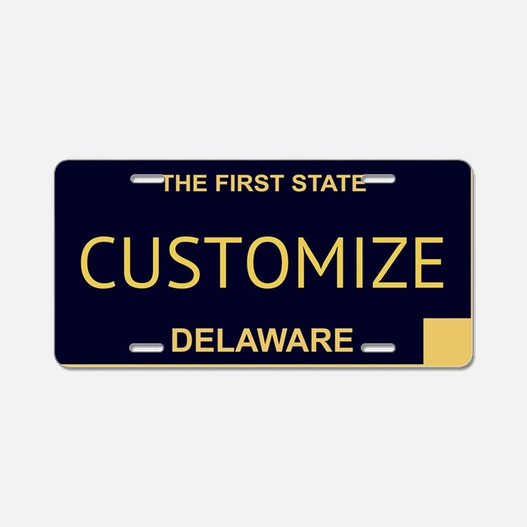 Delaware Custom Aluminum License Plate