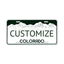 Colorado Custom Aluminum License Plate