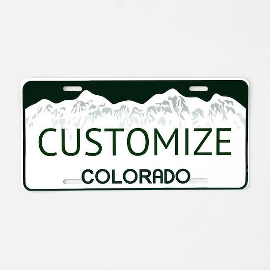 Colorado Custom Aluminum License Plate