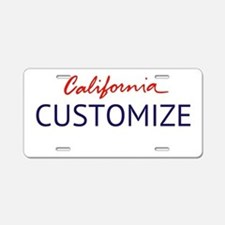 California Custom Aluminum License Plate