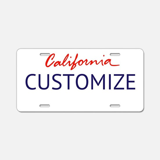 California Custom Aluminum License Plate