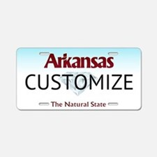 Arkansas Custom Aluminum License Plate