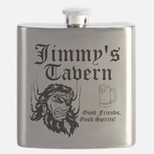 Personalized Bar Man Cave Logo Flask
