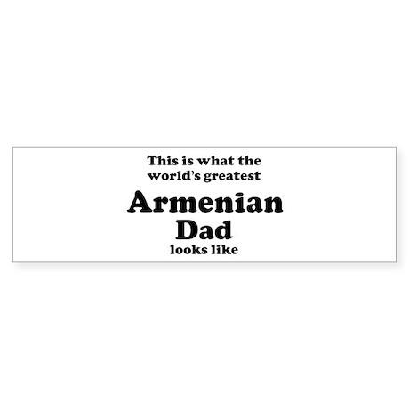 Armenian dad looks like Bumper Sticker