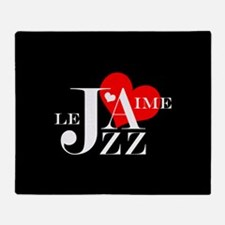 I Love Jazz - French Music Lover Throw Blanket