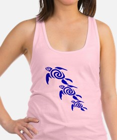 A group Oceania tribal turtles Racerback Tank Top