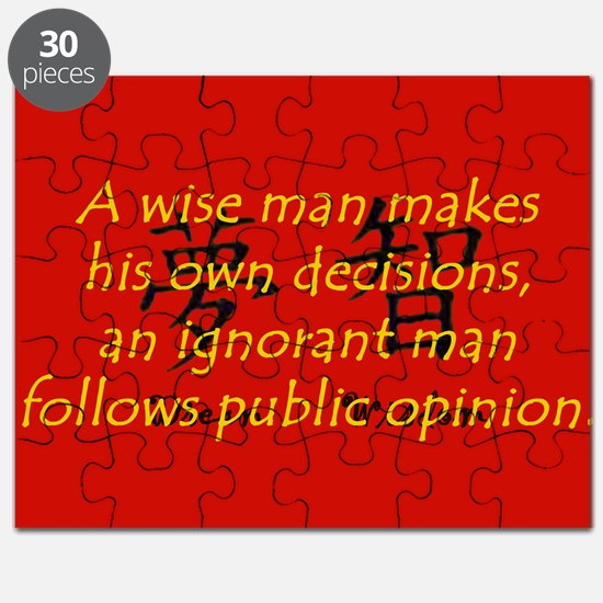 A Wise Man Makes His Own Decisions Puzzle