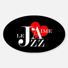 I Love Jazz - French Music Lover Decal