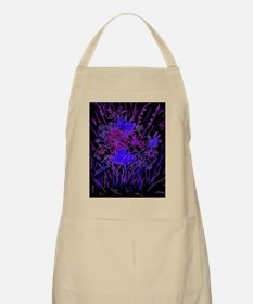 Blue Bright Neon Night Apron