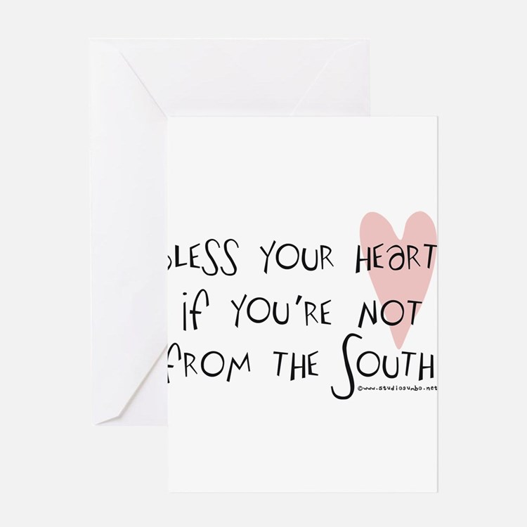 Bless_your_heart Greeting Cards