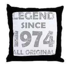 LEGEND SINCE  1974 Throw Pillow
