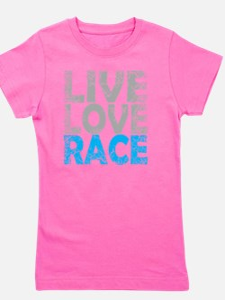 LIVE LOVE RACE BLUE Girl's Tee