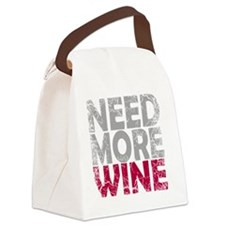 NEED MORE WINE Canvas Lunch Bag