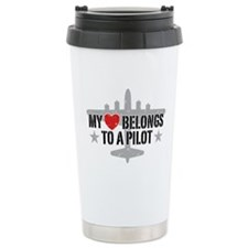 Unique Heart belongs to a pilot Travel Mug
