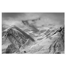 Snow-Covered St. Elias Mountains, Northern British Poster