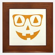 Orange Color Halloween Pumpkin wearing glasses Fra