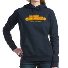 Unique Happy pumpkin Women's Hooded Sweatshirt