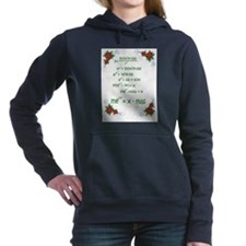 Cute Geek christmas Women's Hooded Sweatshirt