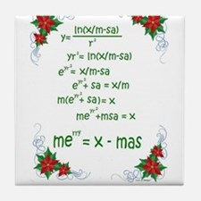Cute Geek christmas Tile Coaster
