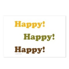 Happy! Happy! Happy! Postcards (Package of 8)