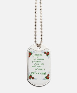 Christmas Math Dog Tags