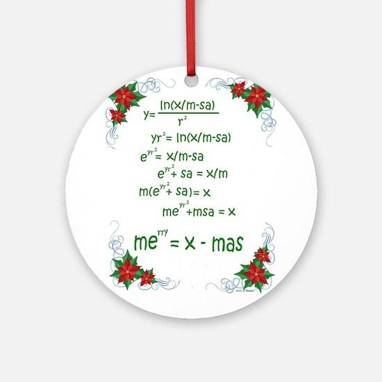 Christmas Math Ornament (Round)