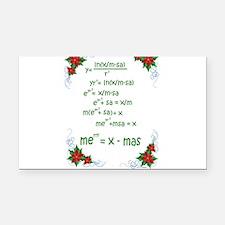 Christmas Math Rectangle Car Magnet