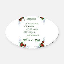 Christmas Math Oval Car Magnet
