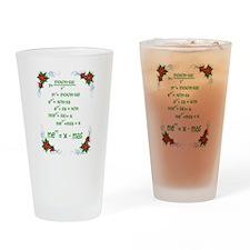 Christmas Math Drinking Glass