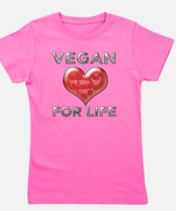 Vegan For Life Girl's Tee