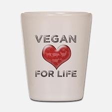 Vegan For Life Shot Glass