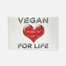 Vegan For Life Rectangle Magnet