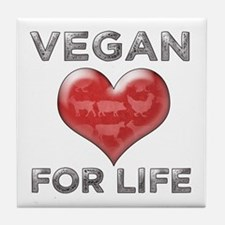 Vegan For Life Tile Coaster