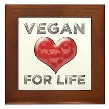 Vegan For Life Framed Tile