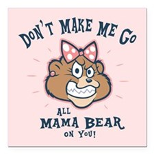 "Cute Funny mothers day Square Car Magnet 3"" x 3"""