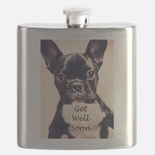 Get Well Soon French Bulldog Flask