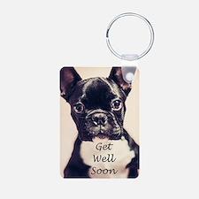 Get Well Soon French Bulldog Keychains