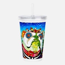 Cute Folk art Acrylic Double-wall Tumbler