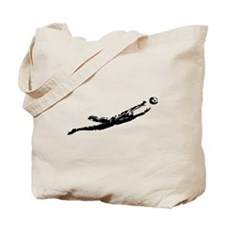 Soccer Goalie Diving Tote Bag