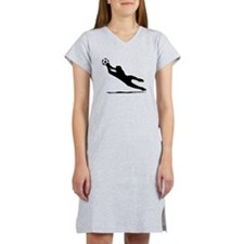 Soccer Goalie Silhouette Women's Nightshirt