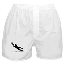 Soccer Goalie Silhouette Boxer Shorts