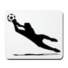 Soccer Goalie Silhouette Mousepad
