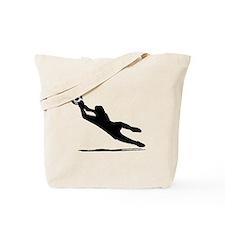 Soccer Goalie Silhouette Tote Bag