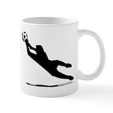 Soccer Goalie Silhouette Mugs