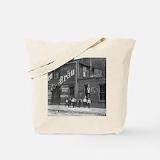 Newsboys Outside a Saloon, 1910 Tote Bag