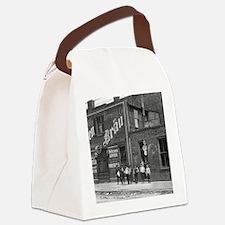 Newsboys Outside a Saloon, 1910 Canvas Lunch Bag