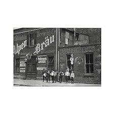 Newsboys Outside a Saloon, 1910 Magnets