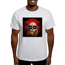 Skull Girl Dia de los Muertos T-Shirt