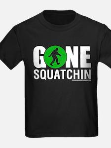 Gone Squatchin White/Green Logo Womens Dark Shir T